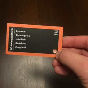 Product foto kaartje oranje kaartspel raaddekaart