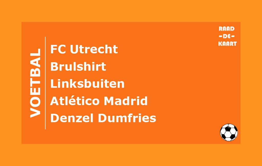 Raad de Voetbalkaart oranje