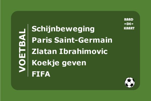 Raad de voetbal kaart spel 30 seconds PSG Fifa Zlatan Ibrahimovic